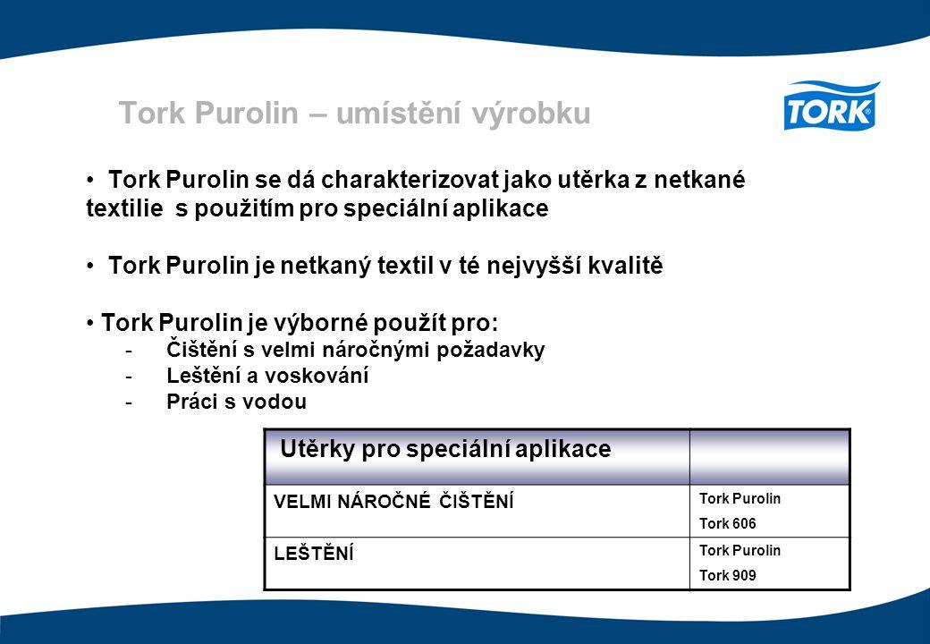 Tork Purolin – umístění výrobku