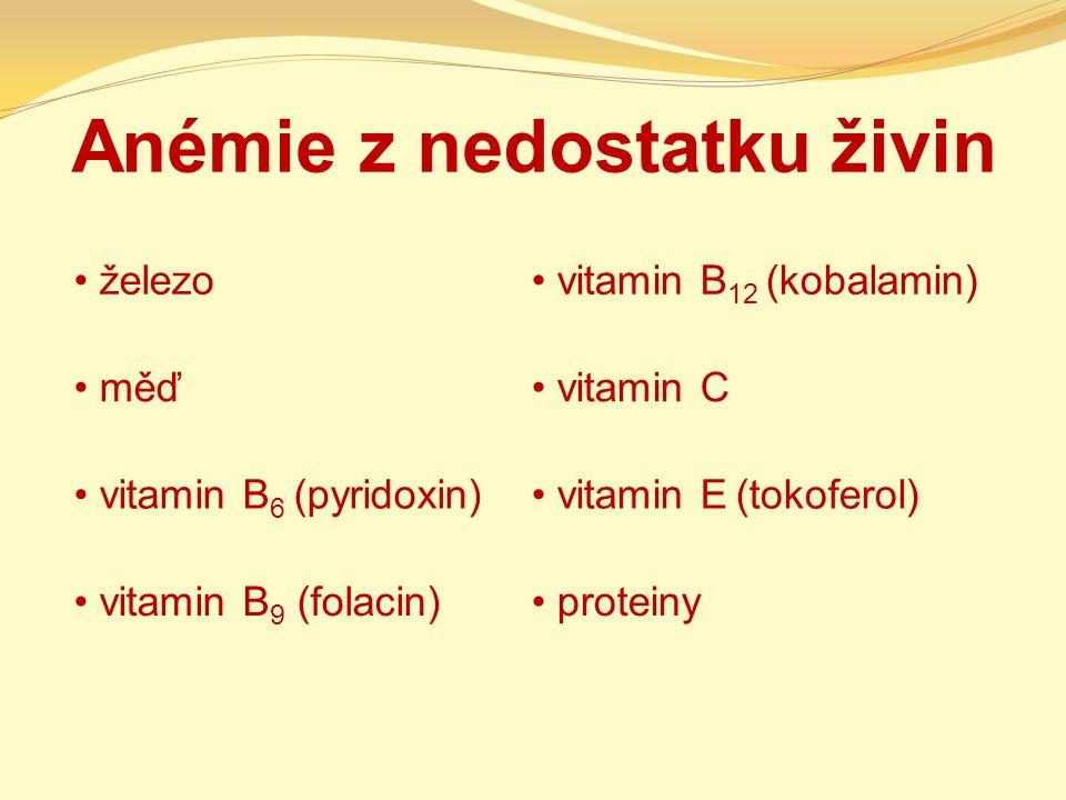 Anémie z nedostatku živin