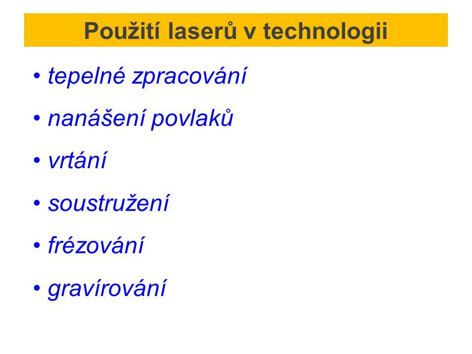 Použití laserů v technologii
