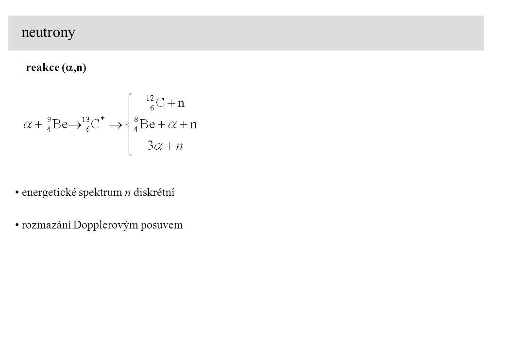 neutrony reakce (a,n) energetické spektrum n diskrétní