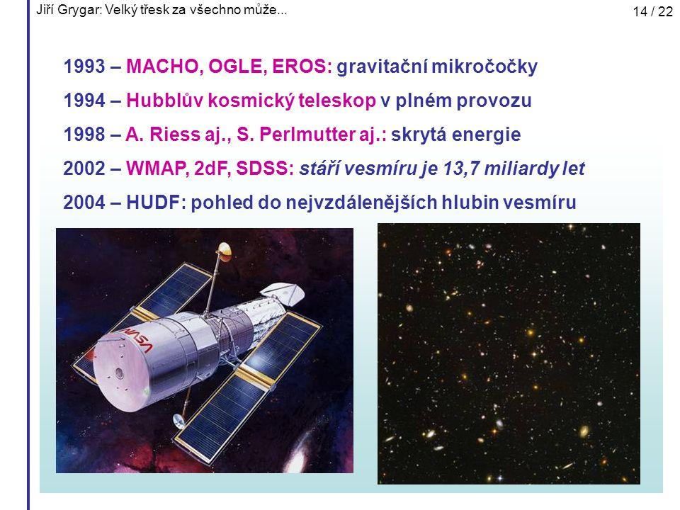 1993 – MACHO, OGLE, EROS: gravitační mikročočky