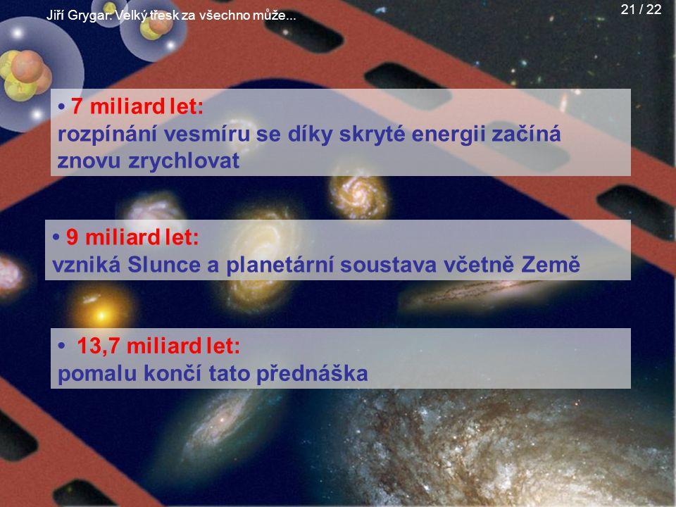 rozpínání vesmíru se díky skryté energii začíná znovu zrychlovat