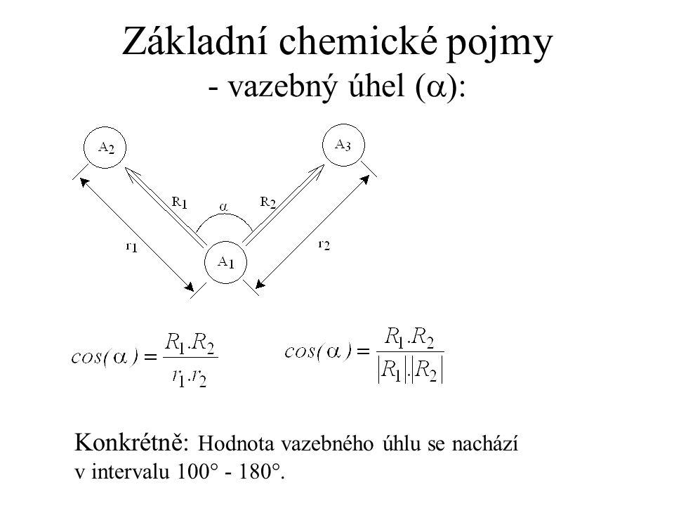 Základní chemické pojmy - vazebný úhel (a):