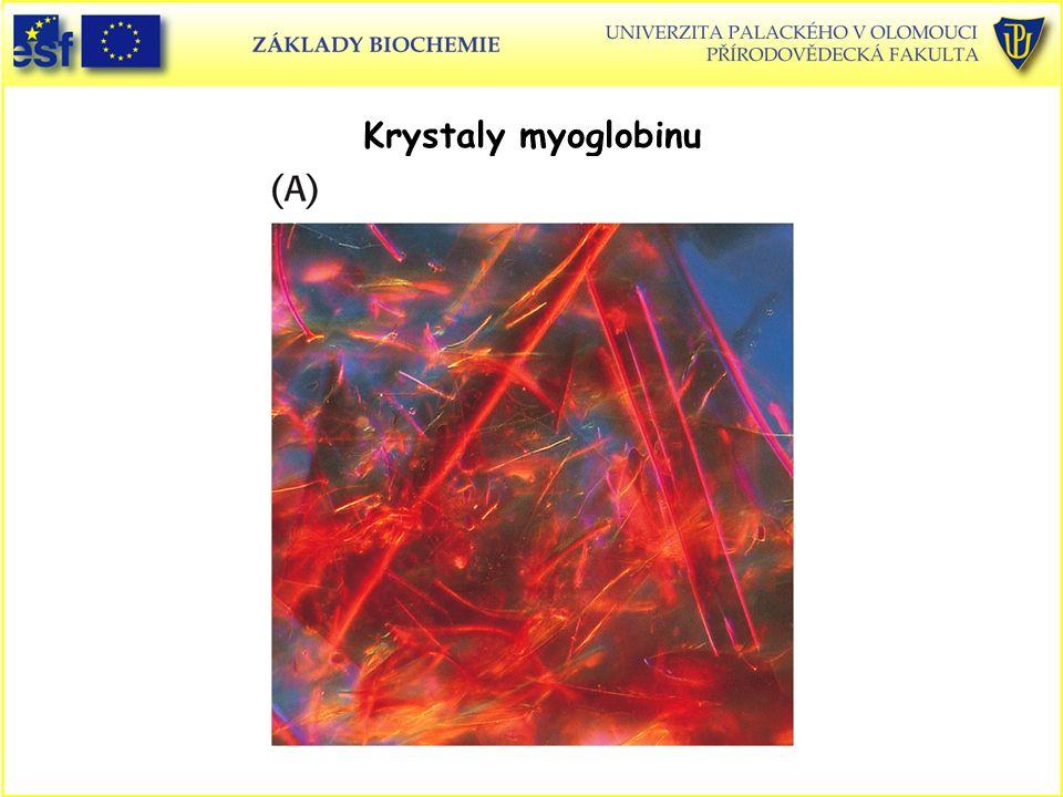 Krystaly myoglobinu Proteiny, krystaly myoglobinu
