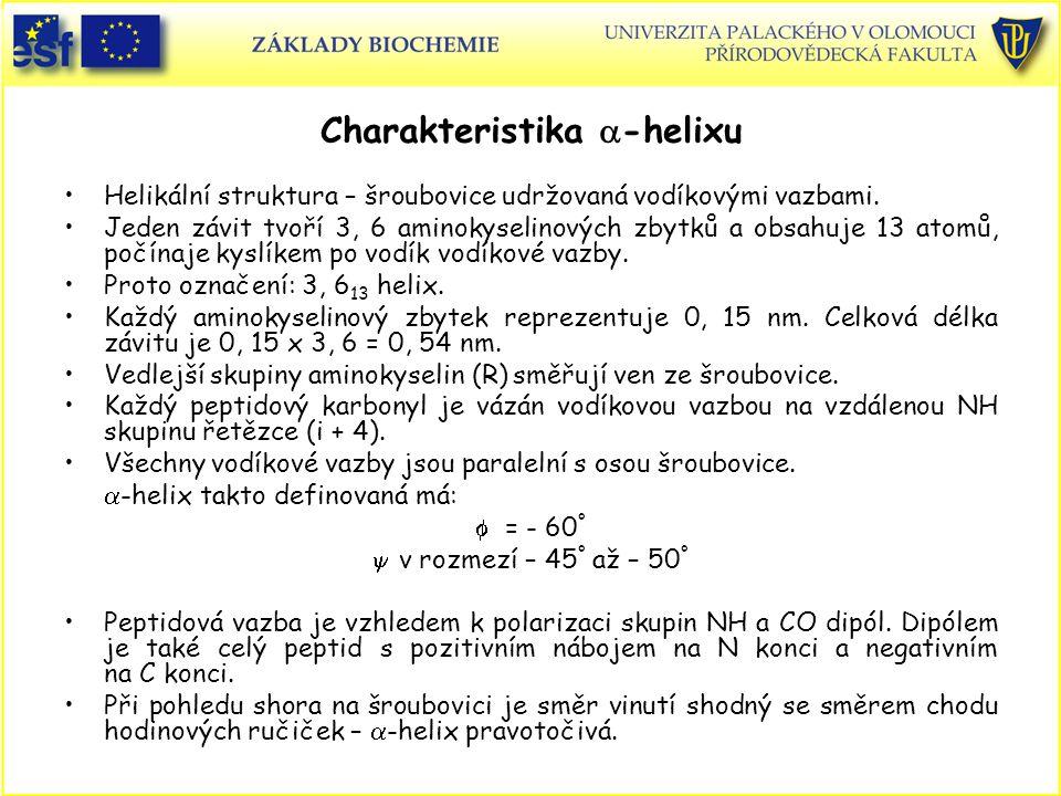 Charakteristika a-helixu