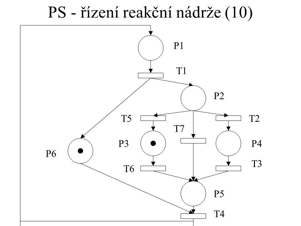 PS - řízení reakční nádrže (10)