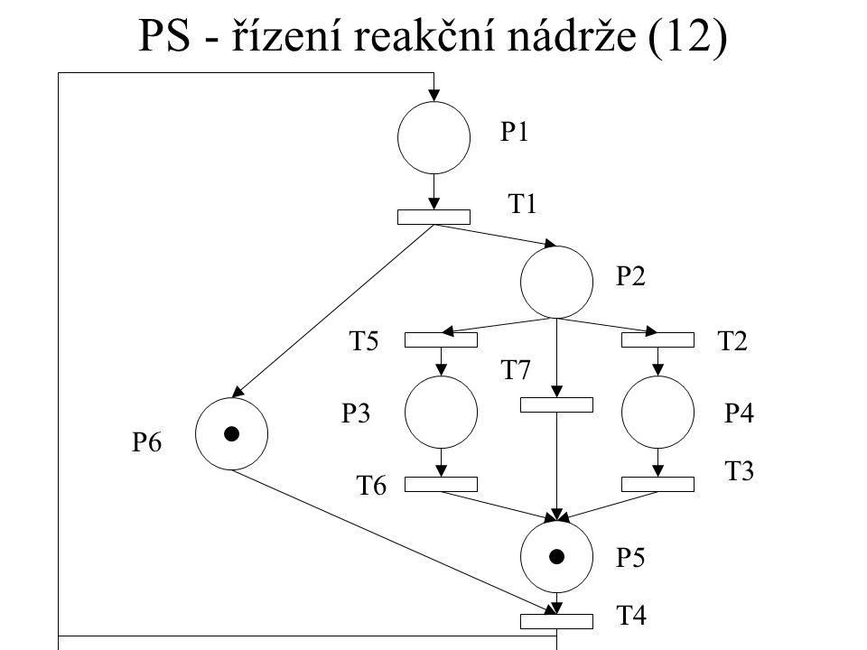 PS - řízení reakční nádrže (12)