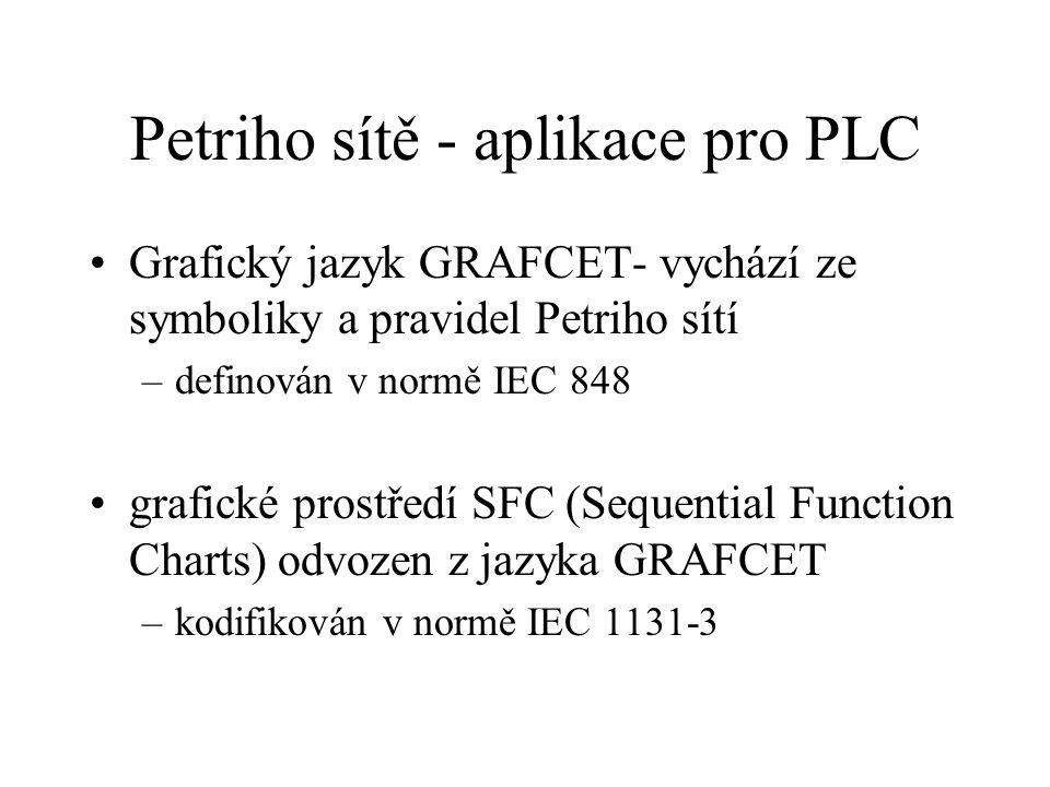 Petriho sítě - aplikace pro PLC