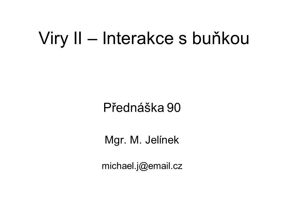 Viry II – Interakce s buňkou