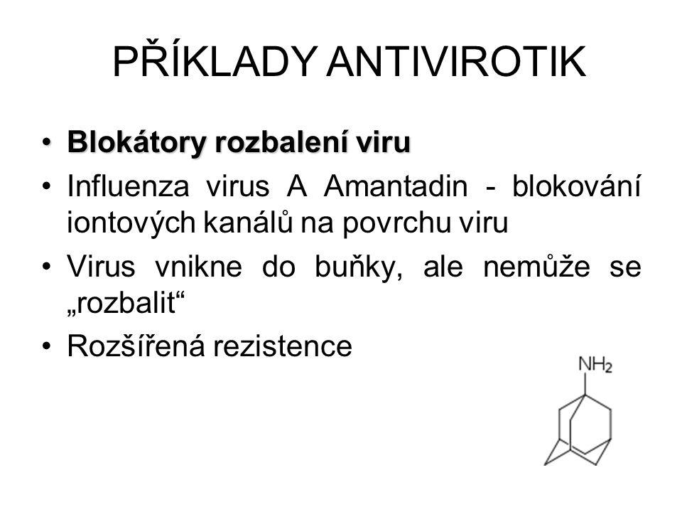 PŘÍKLADY ANTIVIROTIK Blokátory rozbalení viru