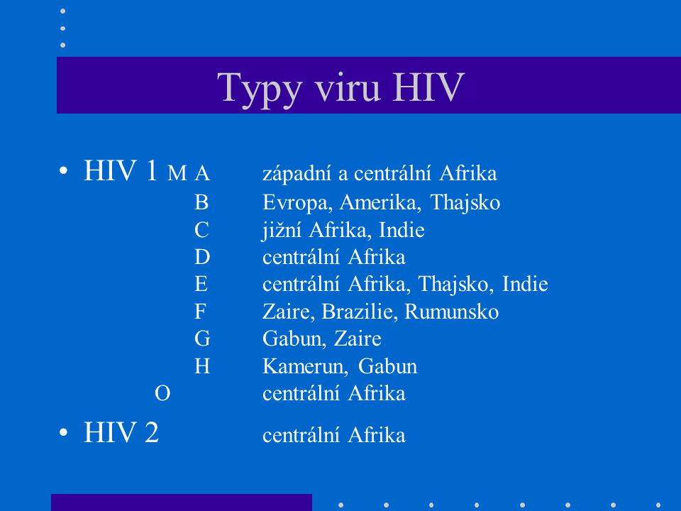 Typy viru HIV