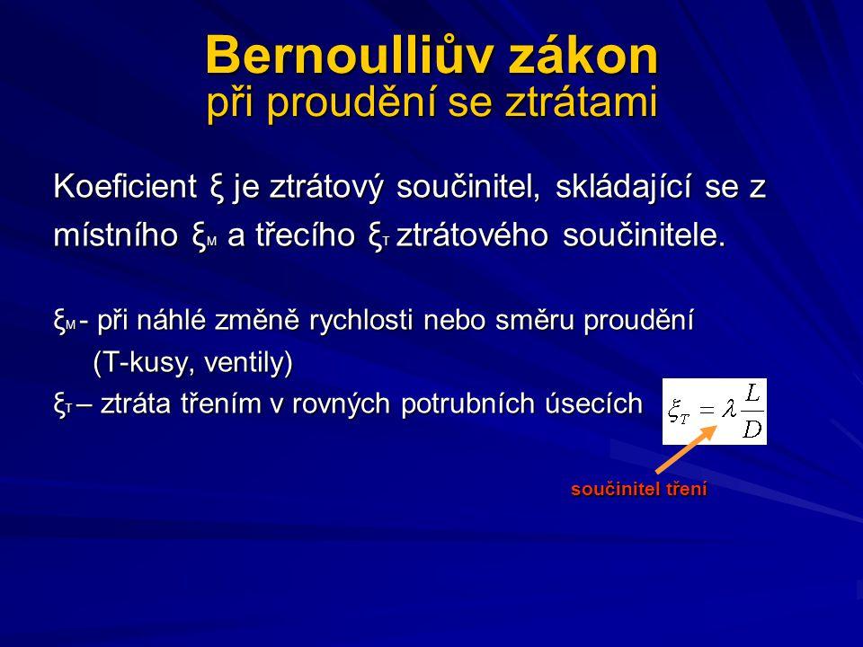 Bernoulliův zákon při proudění se ztrátami