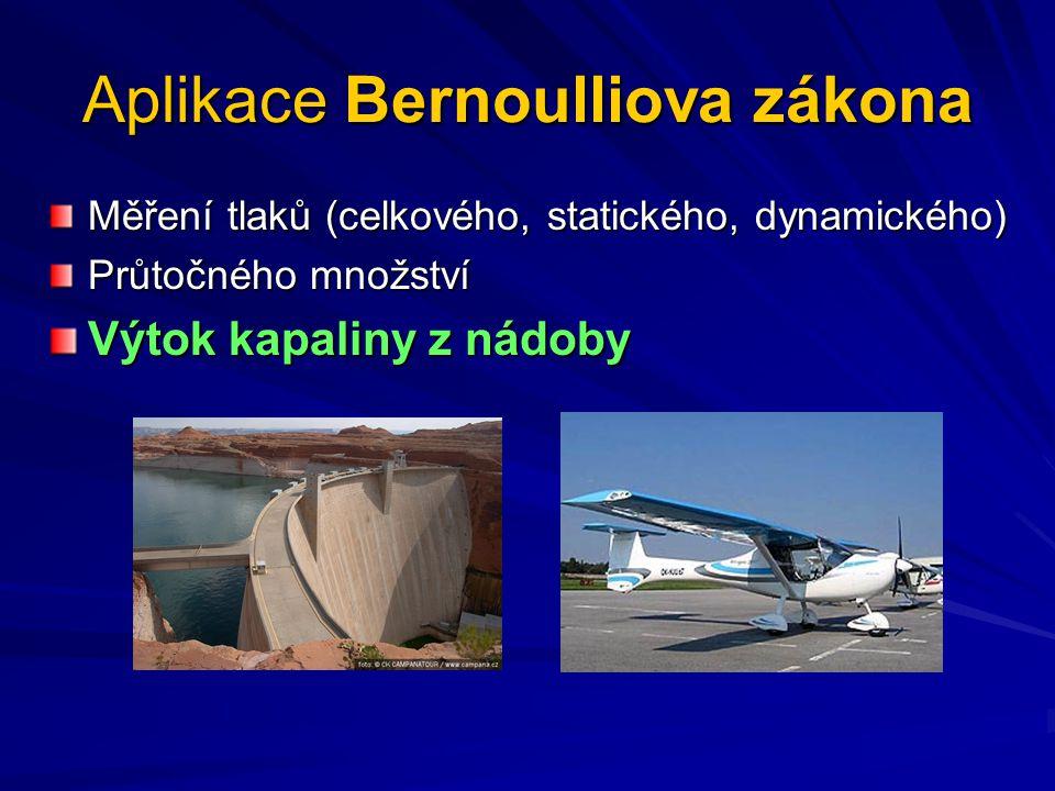 Aplikace Bernoulliova zákona
