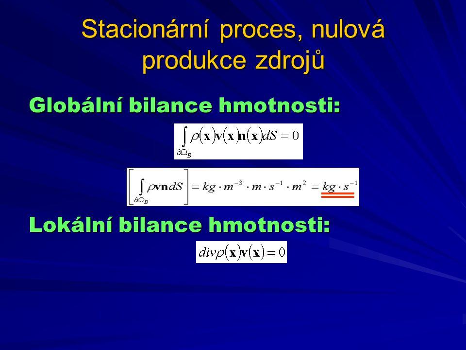 Stacionární proces, nulová produkce zdrojů