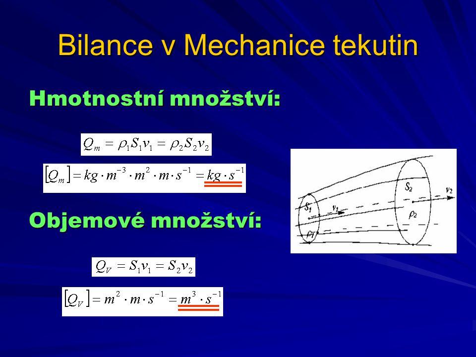 Bilance v Mechanice tekutin