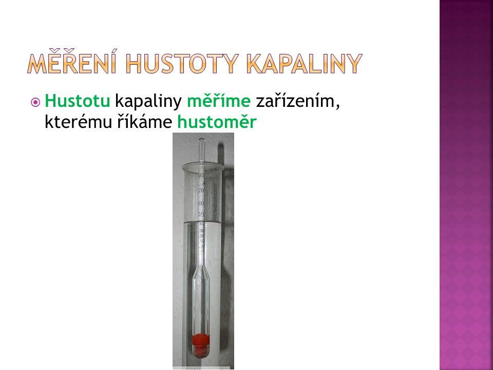 Měření hustoty kapaliny