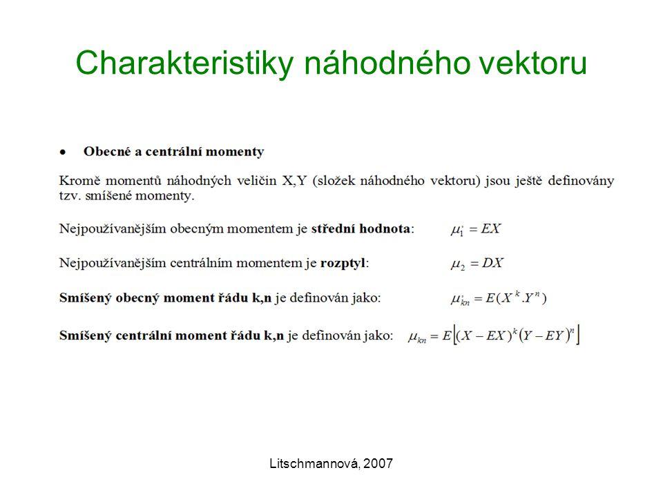 Charakteristiky náhodného vektoru