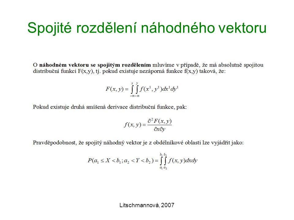 Spojité rozdělení náhodného vektoru