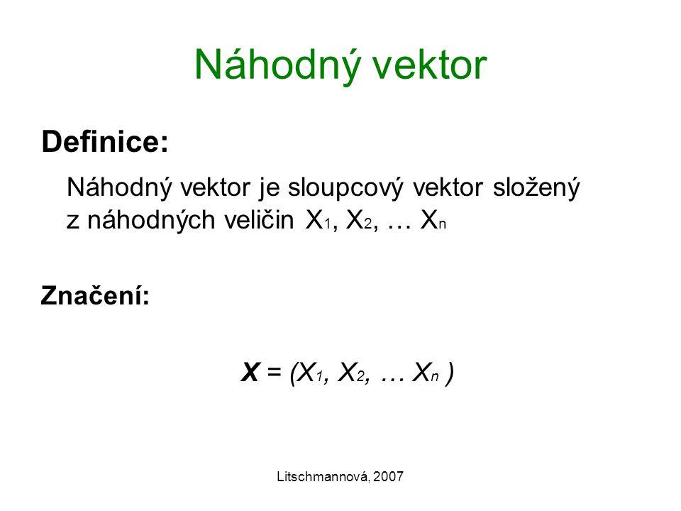 Náhodný vektor Definice: