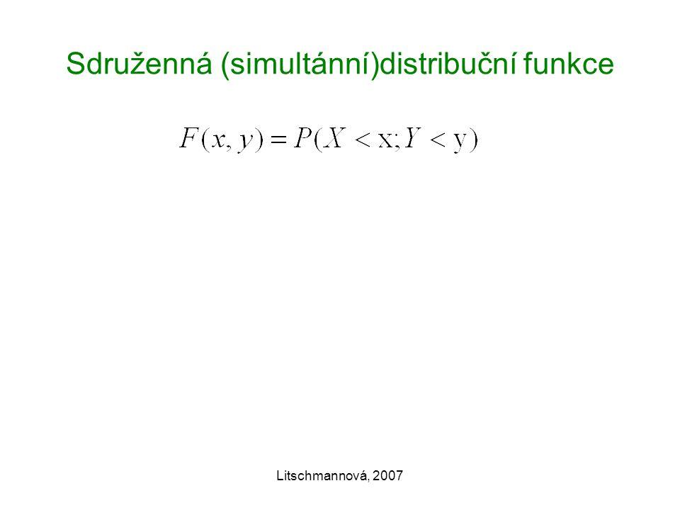 Sdruženná (simultánní)distribuční funkce