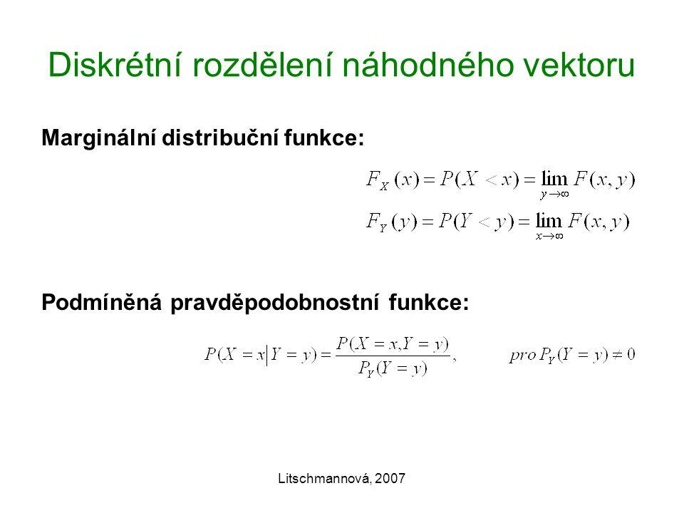 Diskrétní rozdělení náhodného vektoru