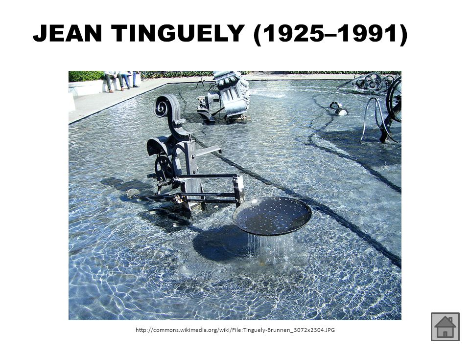 JEAN TINGUELY (1925–1991) http://commons.wikimedia.org/wiki/File:Tinguely-Brunnen_3072x2304.JPG
