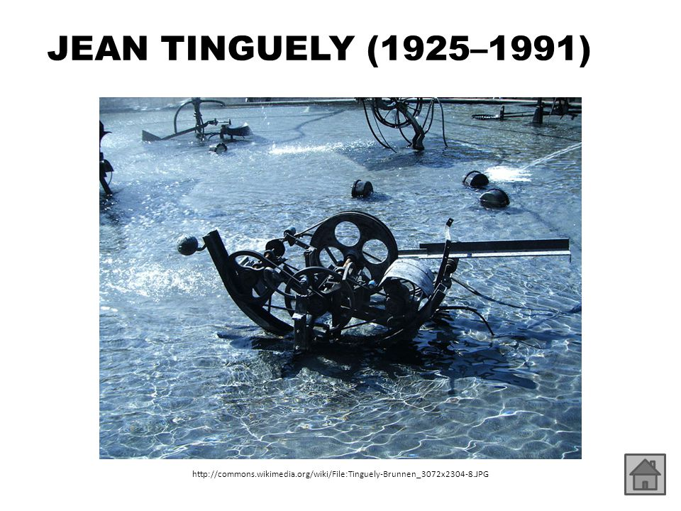 JEAN TINGUELY (1925–1991) http://commons.wikimedia.org/wiki/File:Tinguely-Brunnen_3072x2304-8.JPG