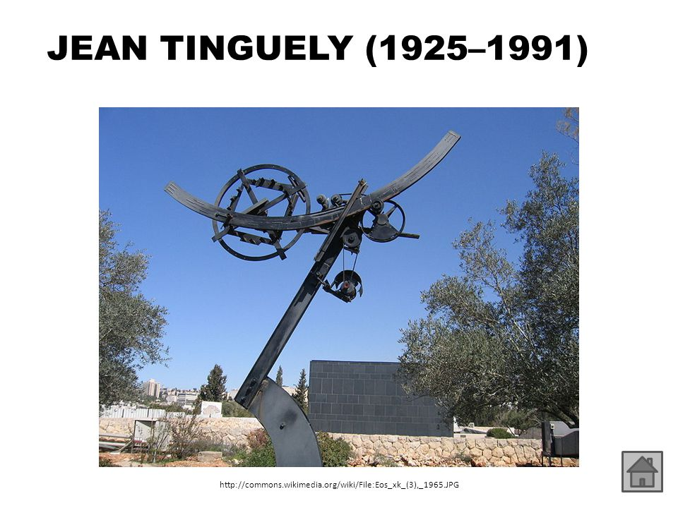 JEAN TINGUELY (1925–1991) http://commons.wikimedia.org/wiki/File:Eos_xk_(3),_1965.JPG