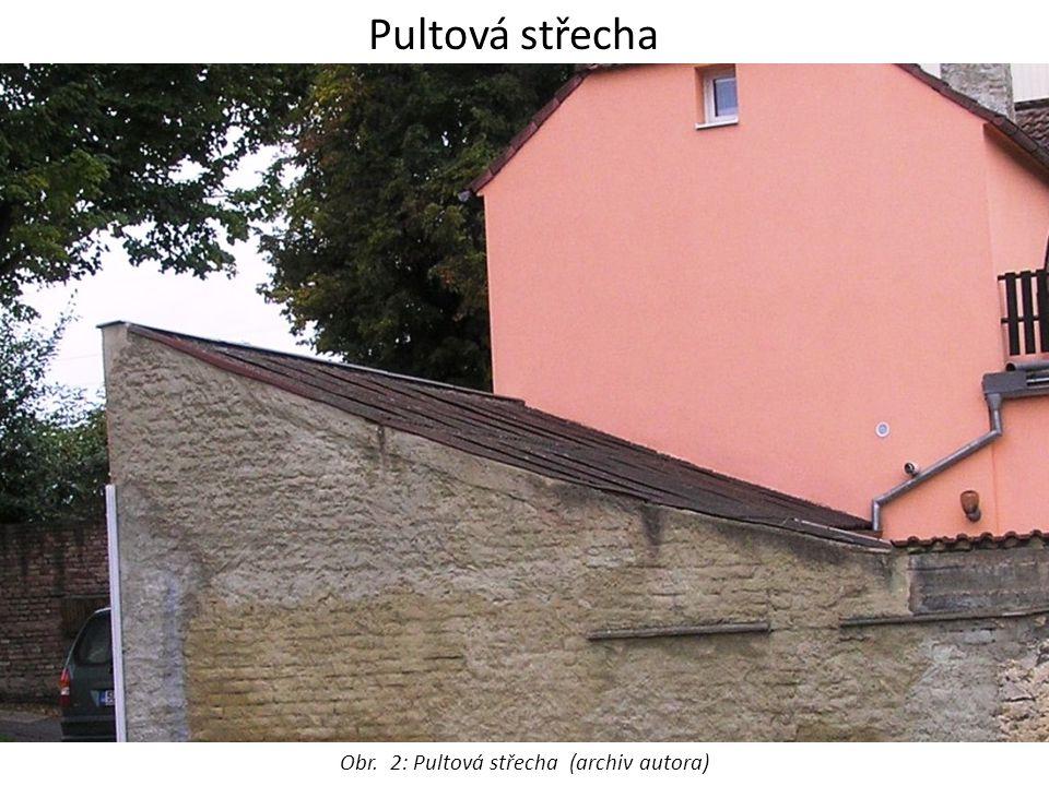 Obr. 2: Pultová střecha (archiv autora)