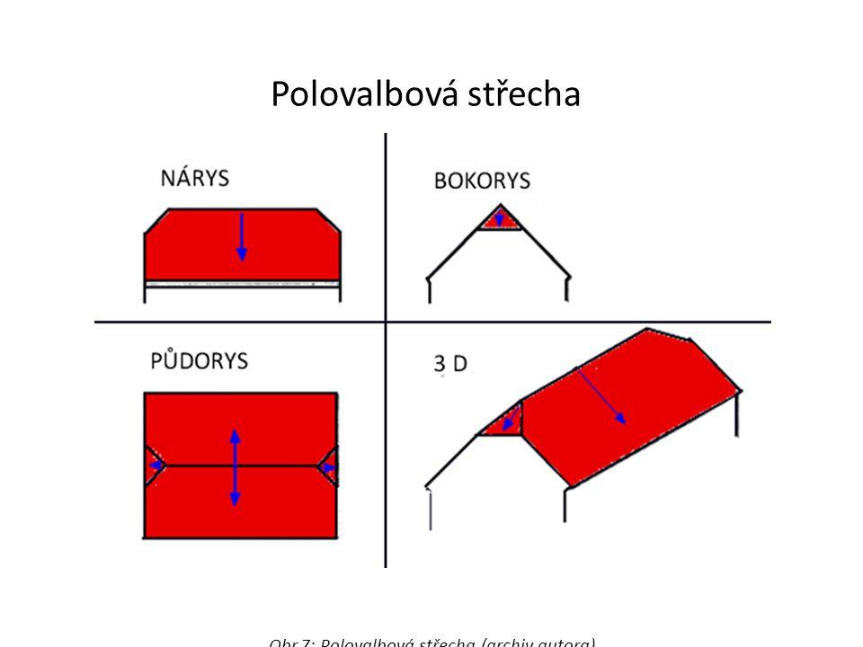 Obr.7: Polovalbová střecha (archiv autora)