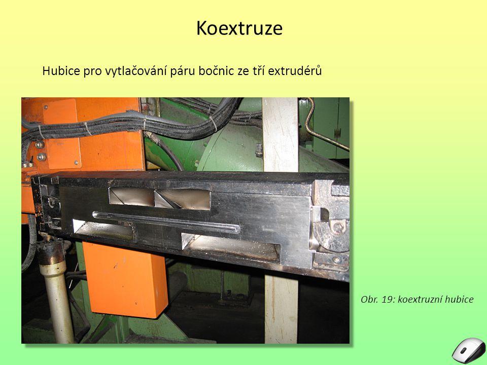 Obr. 19: koextruzní hubice