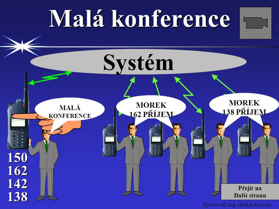 Malá konference Systém 150 162 142 138 MOREK 138 PŘÍJEM MOREK