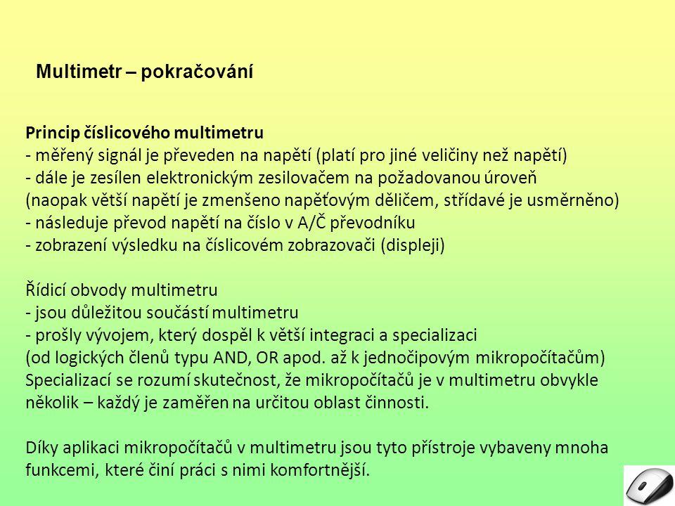 Multimetr – pokračování