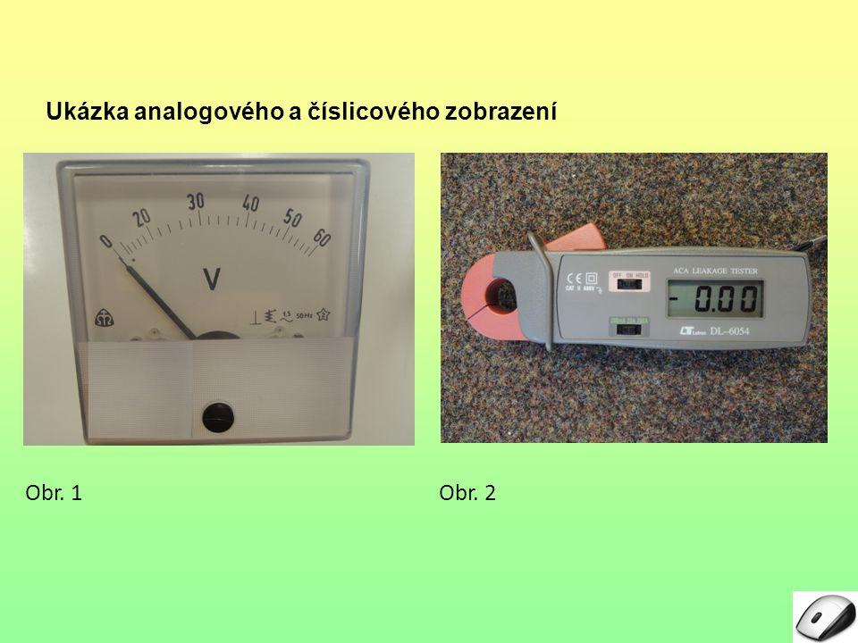 Ukázka analogového a číslicového zobrazení