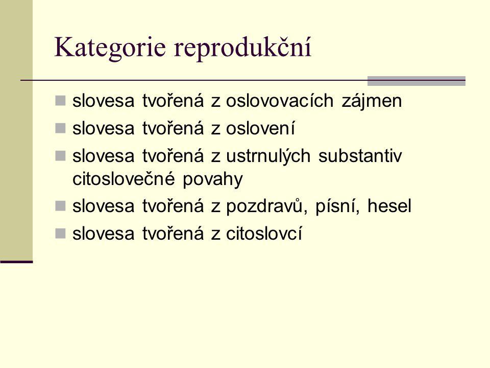 Kategorie reprodukční