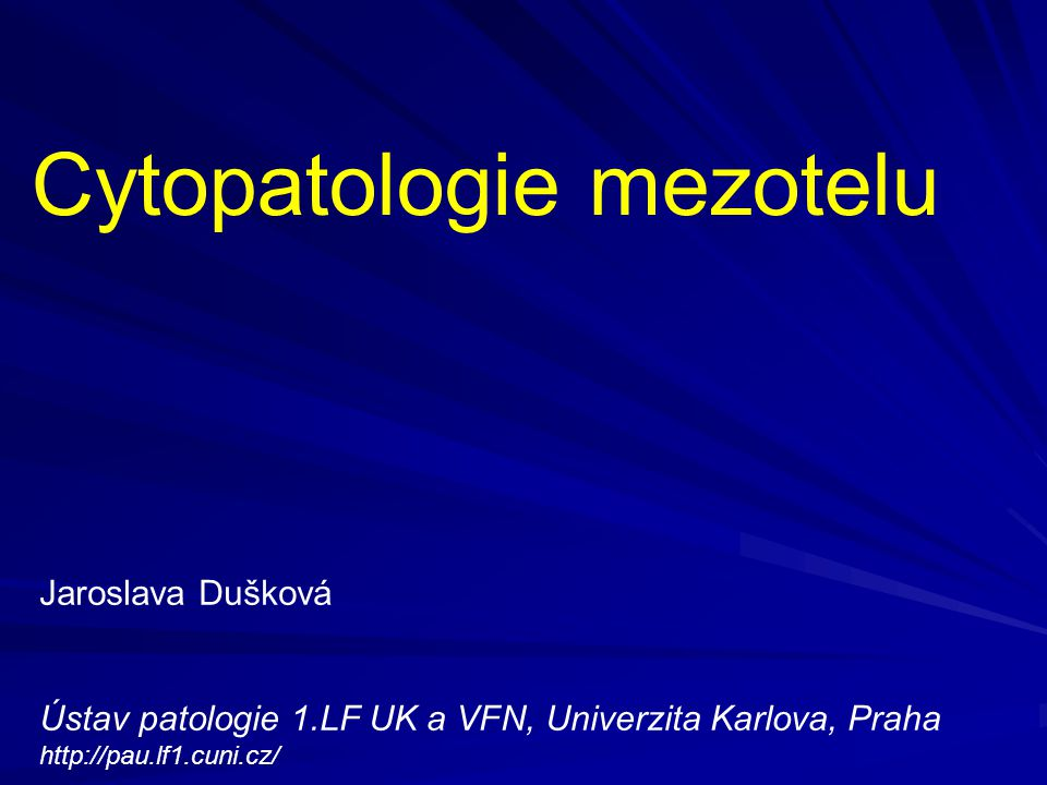 Cytopatologie mezotelu