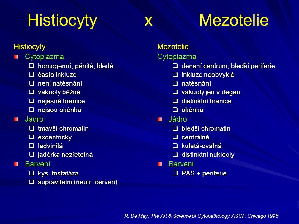 Histiocyty x Mezotelie