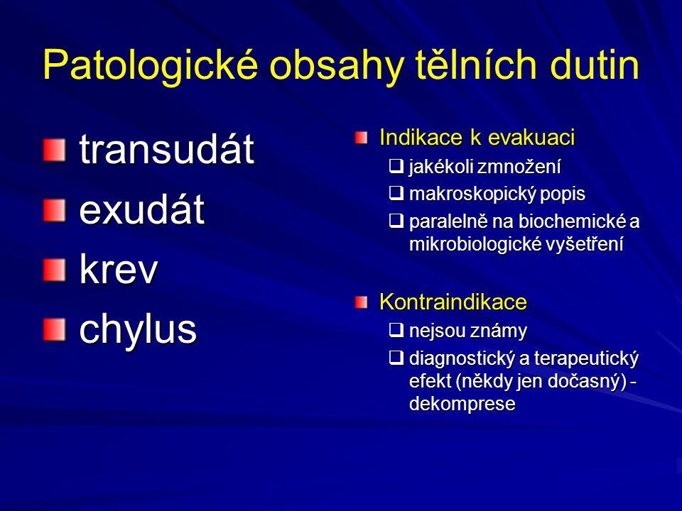 Patologické obsahy tělních dutin