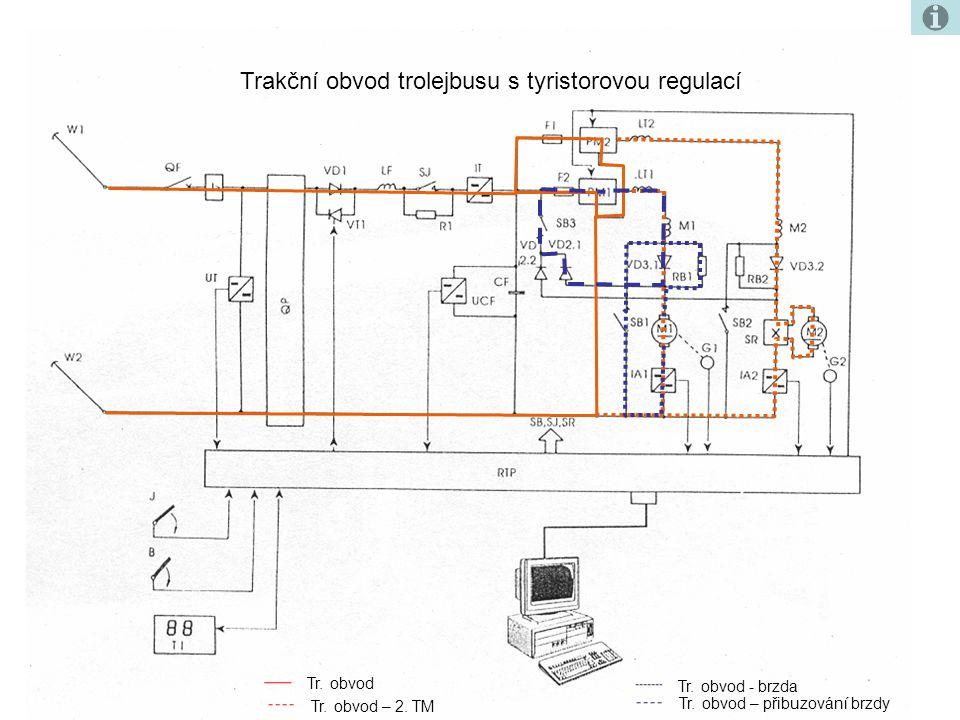 Trakční obvod trolejbusu s tyristorovou regulací