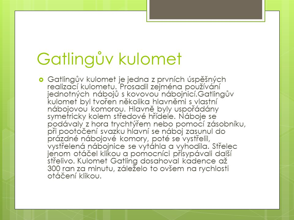 Gatlingův kulomet