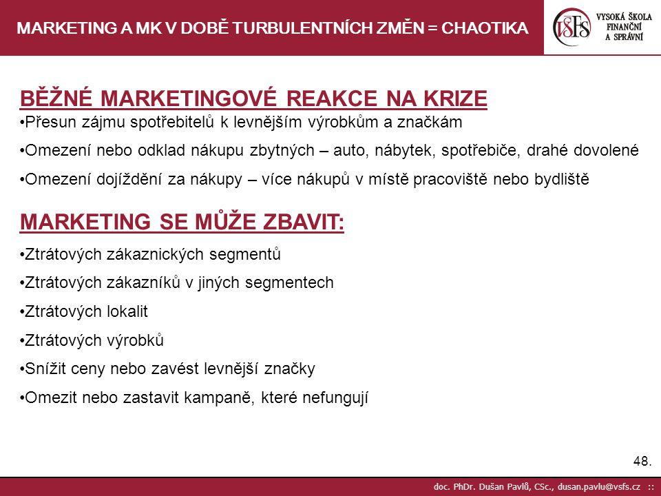 MARKETING A MK V DOBĚ TURBULENTNÍCH ZMĚN = CHAOTIKA