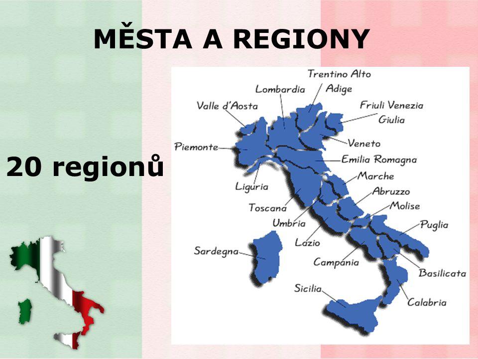 MĚSTA A REGIONY 20 regionů