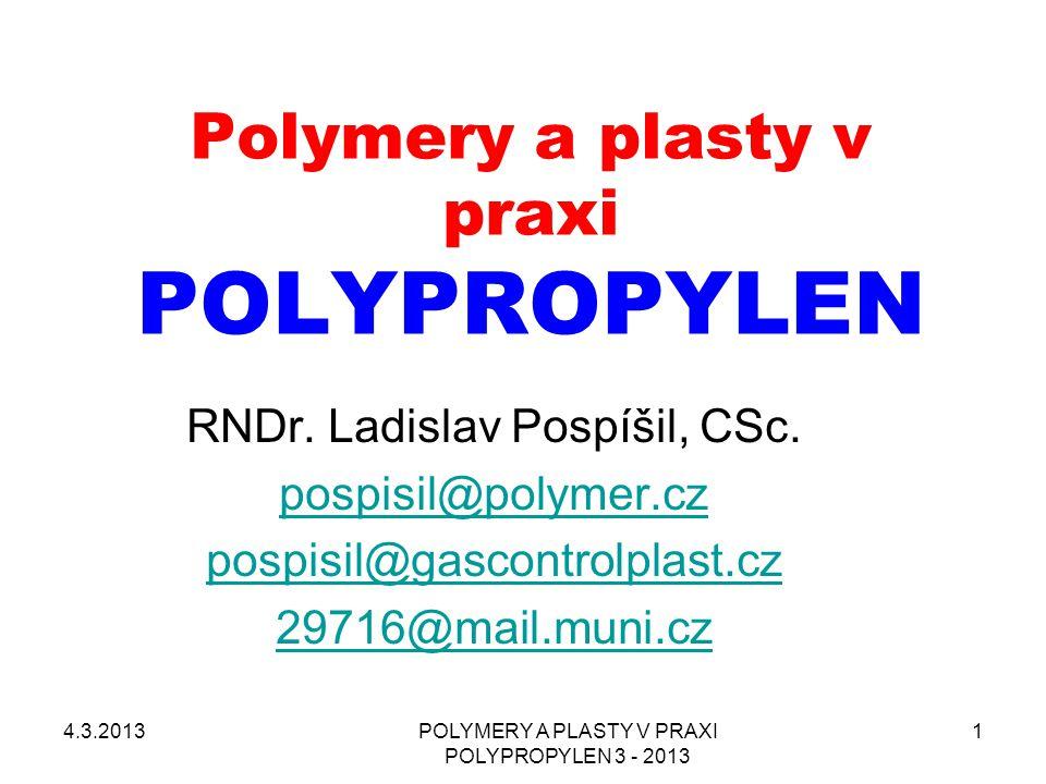Polymery a plasty v praxi POLYPROPYLEN