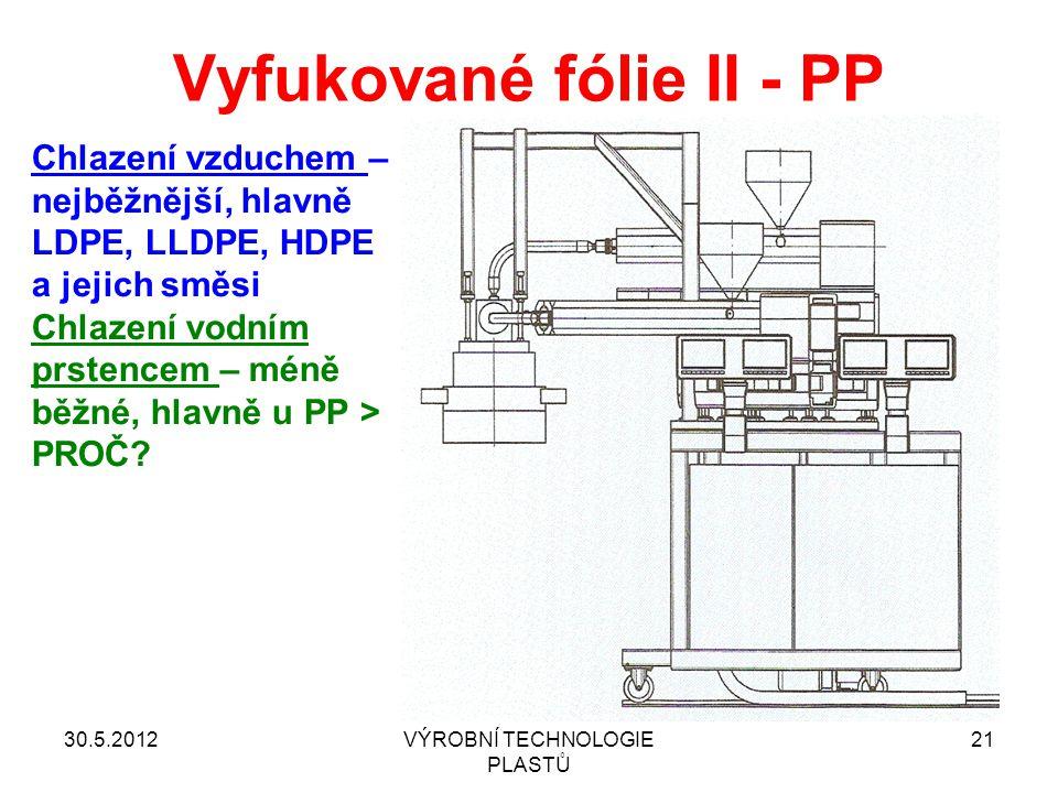 Vyfukované fólie II - PP