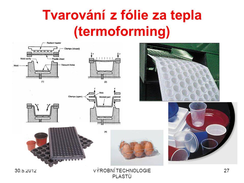 Tvarování z fólie za tepla (termoforming)