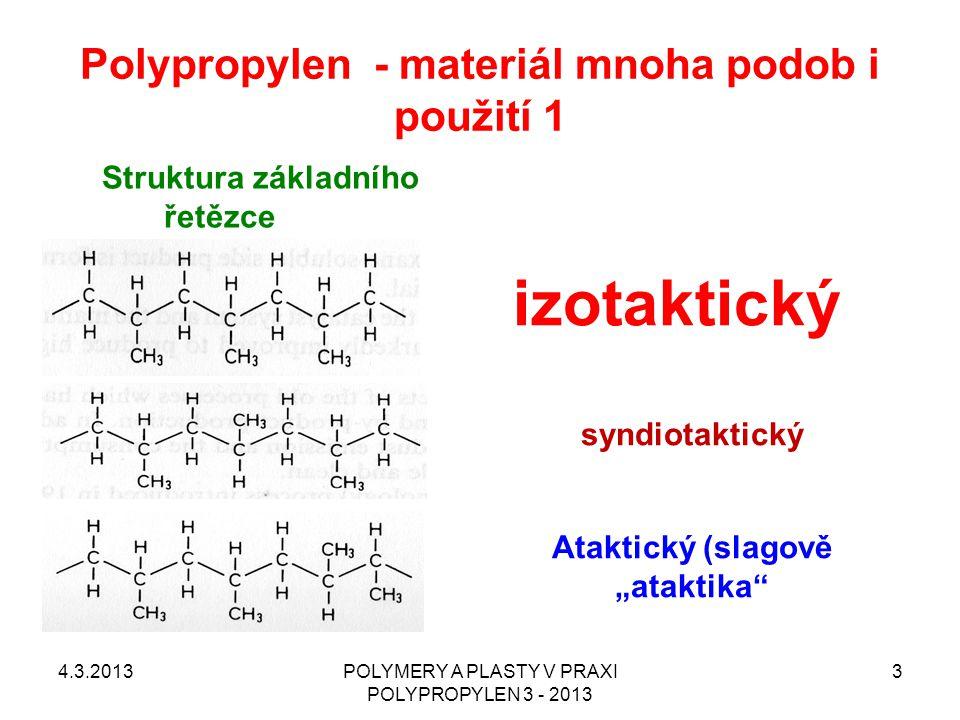 Polypropylen - materiál mnoha podob i použití 1