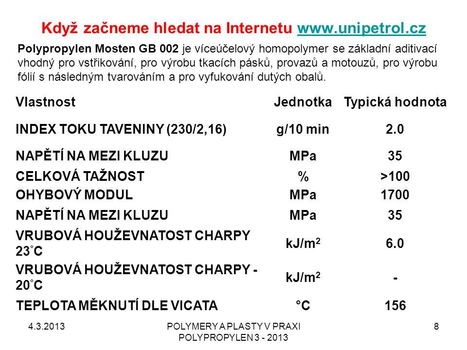 Když začneme hledat na Internetu www.unipetrol.cz