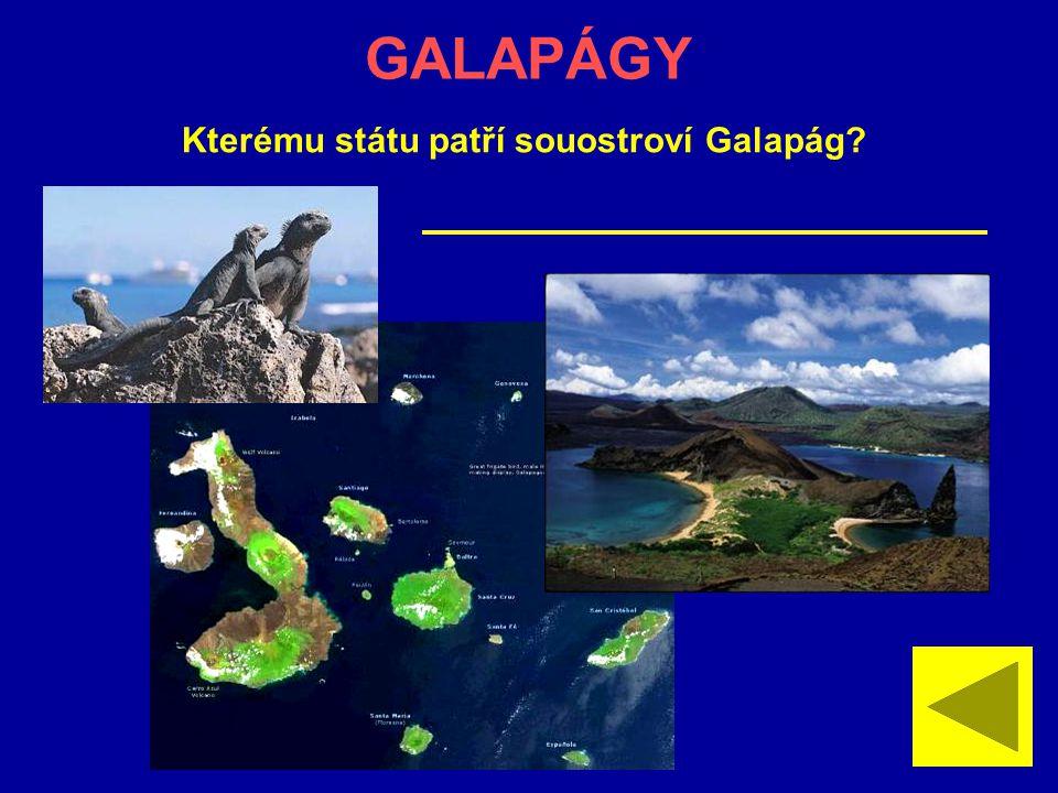 GALAPÁGY Kterému státu patří souostroví Galapág