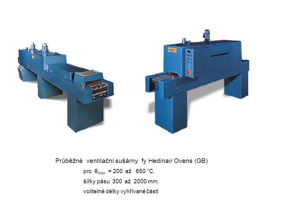 Průběžné ventilační sušárny fy Hedinair Ovens (GB)