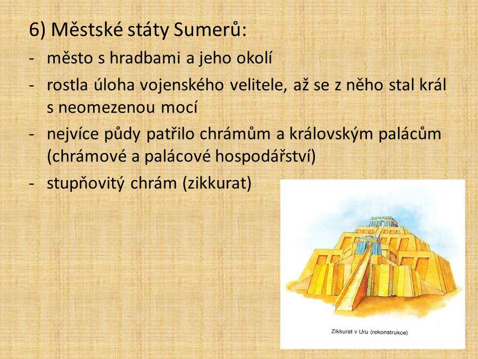 6) Městské státy Sumerů: